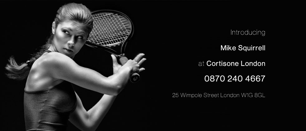 CORTISONE TREATMENT LONDON FOR TENNIS ELBOW